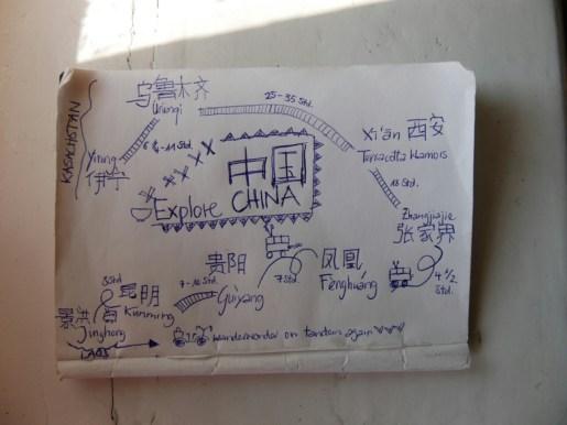 The plan for China.// Der Plan für China.
