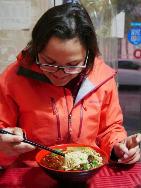 Noodle soup.