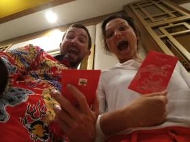 Chinese New Year - and we also got the traditional envelopes. What an experience! // Chinesisches Neujahr und wir haben auch die traditionellen Umschläge bekommen! Was für eine Erfahrung!