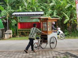 Breakfast cycles to you in Indonesia. // Das Frühstück kommt in Indonesien zu dir geradelt.