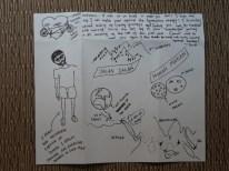 Lovely drawing of our friend Sonali.// Wunderhuebsches Cartoon von unserer Freundin Sonali.