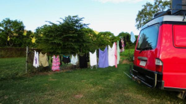 Waslijn-camper