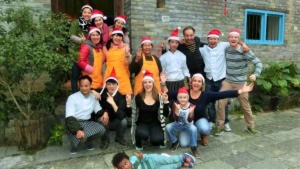 Giggling Tree crew Kerst 2014