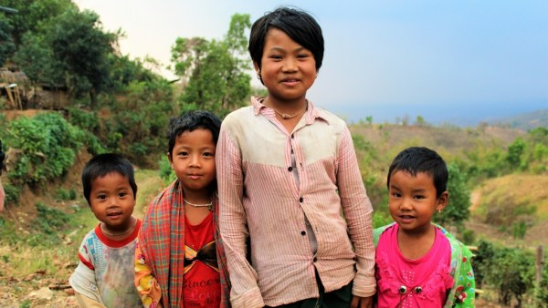 Local children Inle Lake