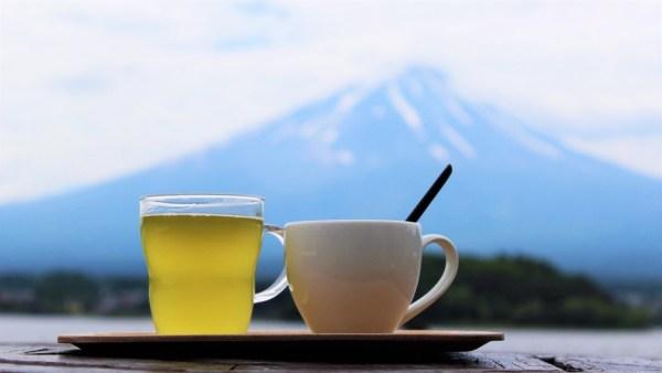 Mount Fuji coffee and tea