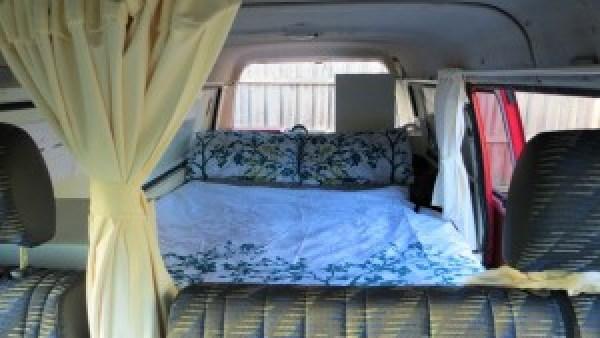 Camper slaapkamer