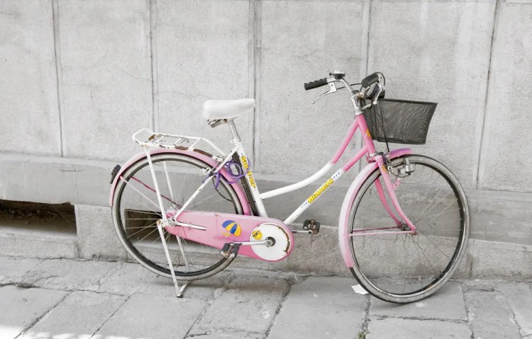 Pink bike, Vicenza, Italy