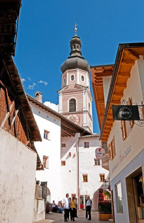 Church bell/clock tower, Castelrotto, Italy