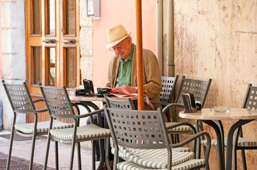 Elderly man, Verona, Italy