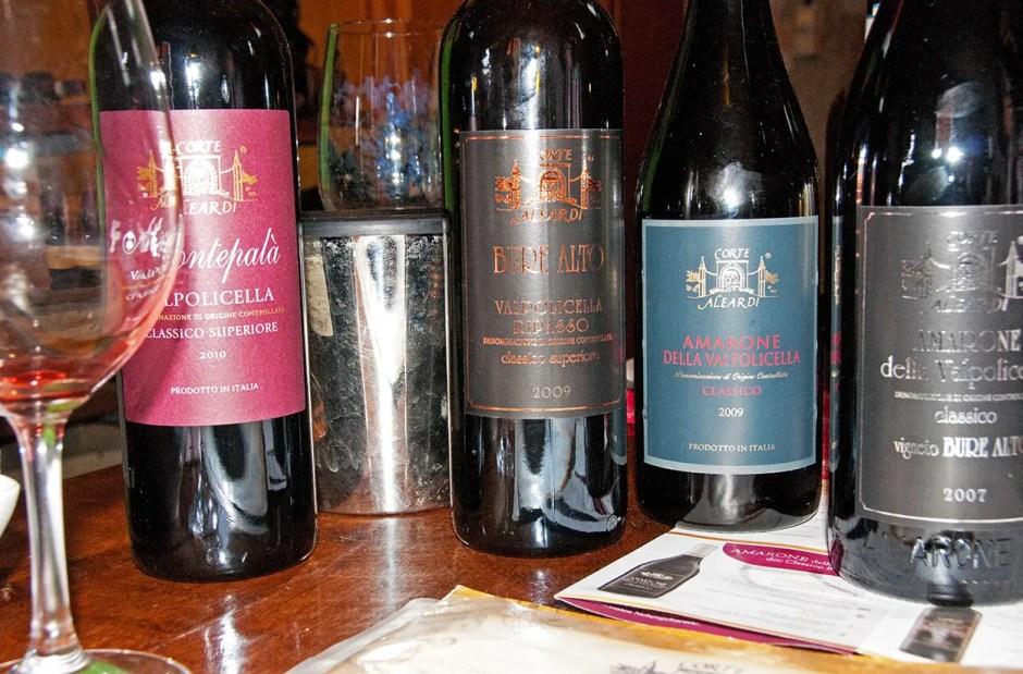 The wines I tasted at Corte Aleardi