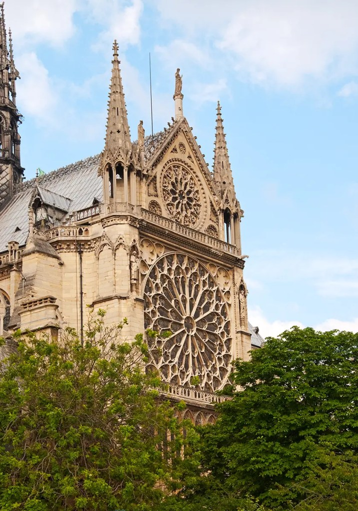 Exterior of Rose Window, Notre Dame