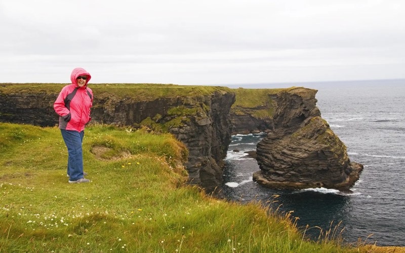 My mom at the cliffs near Kilkee, Ireland 2010