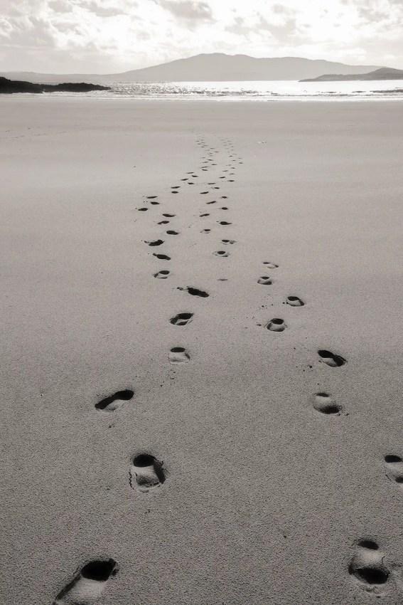 Footprints in Sand, Mayo, Ireland