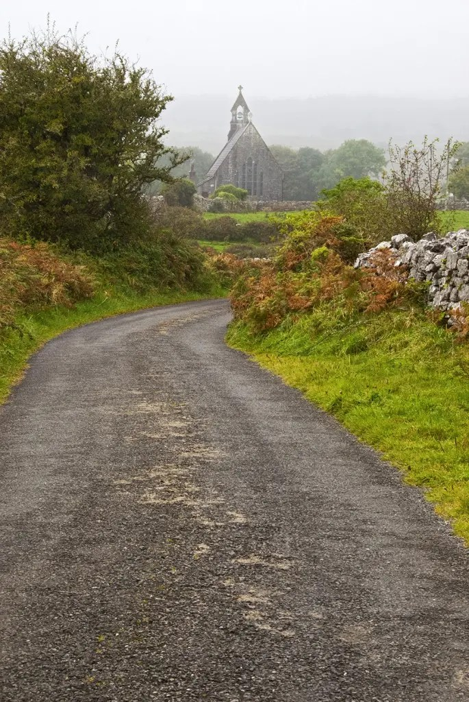 Small church, the Burren, County Clare, Ireland