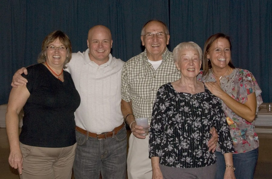 Me with the folks and the siblings, 2010