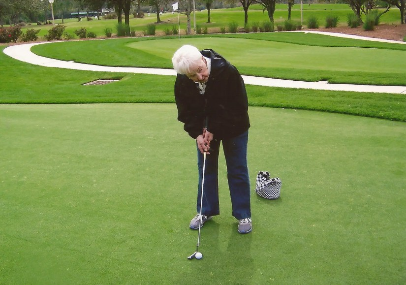 Mom at the Golf Hall of Fame in FL 2011