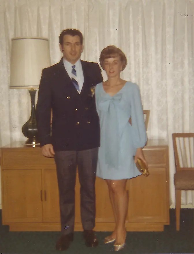 mom and dad heading out for new years eve 1969