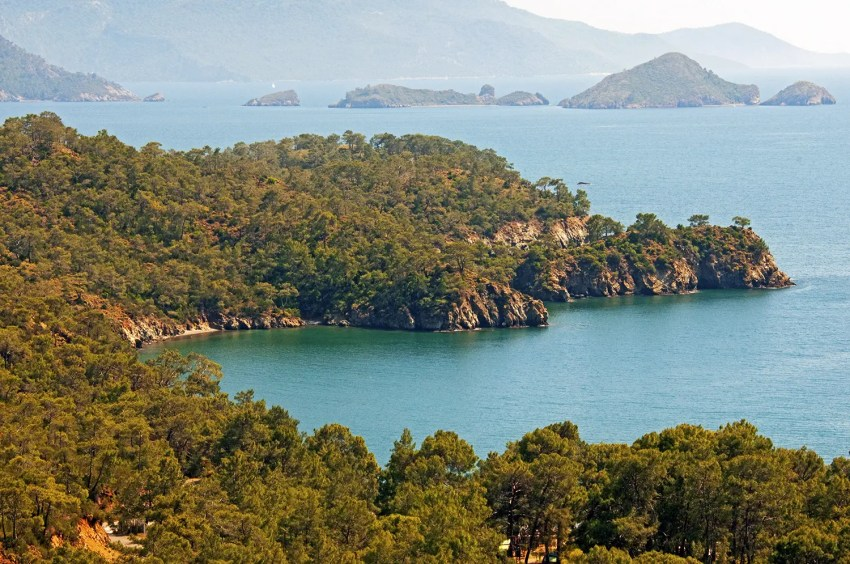 Scenery along western Mediterranean coast of Turkey