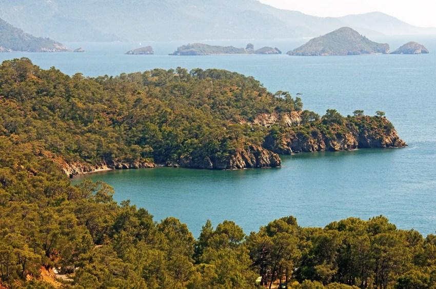 Scenery along western Mediterranean coast of Turkey