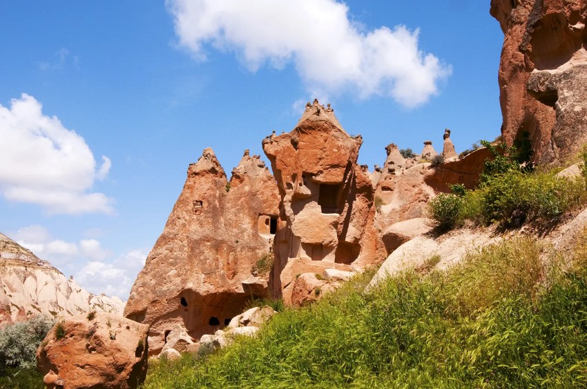 Fairy chimneys and rock formations of Zelve, an open air musuemn, Cappadocia, Turkey