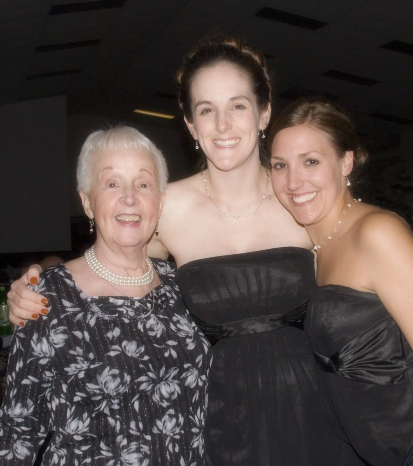 My mom with her 2 oldest granddaughters in 2009