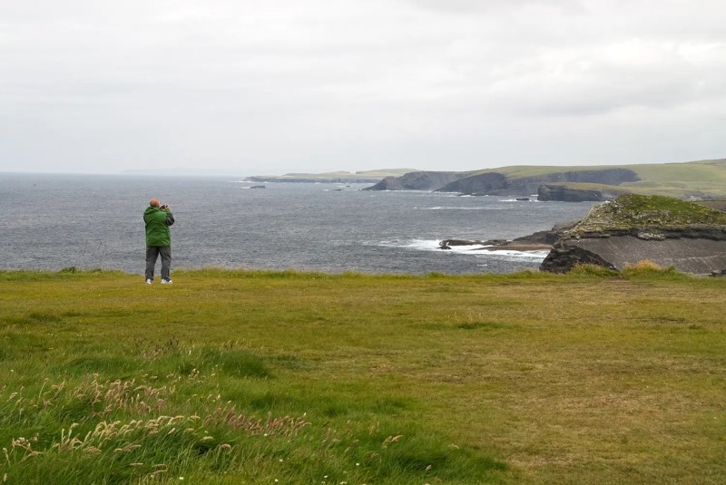 Dad taking in the cliffs near Kilkee, County Clare
