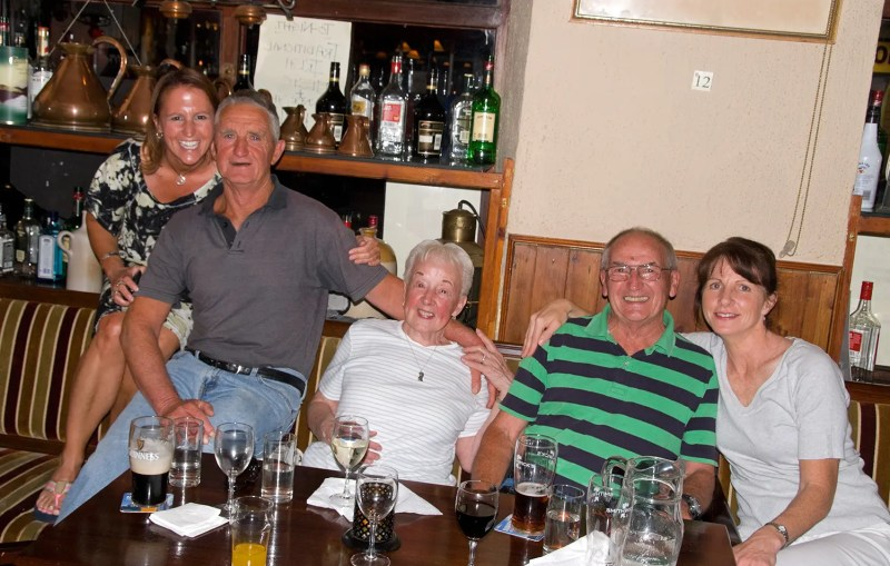 Me with my folks and their friends, the Murphy's, at a pub in Kenmare
