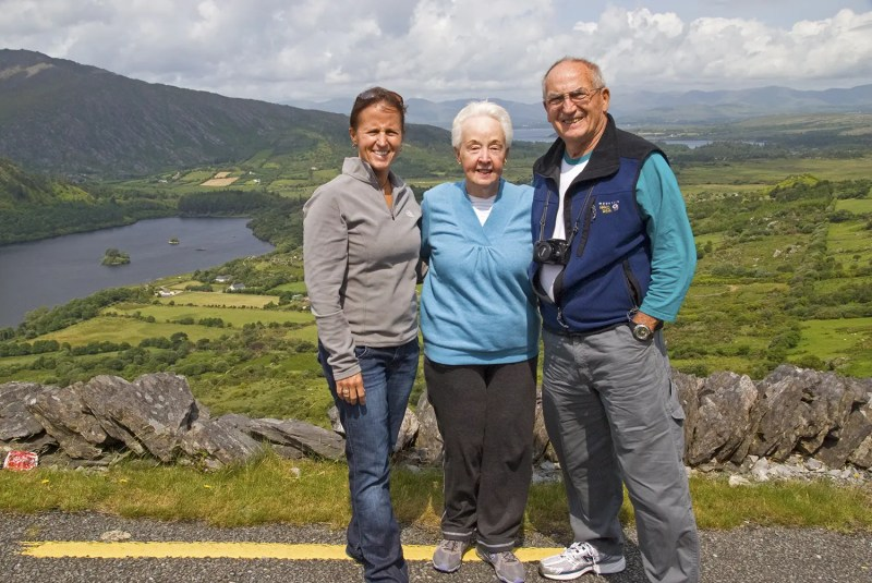 Me with my folks at Healy Pass on the Beara Peninsula