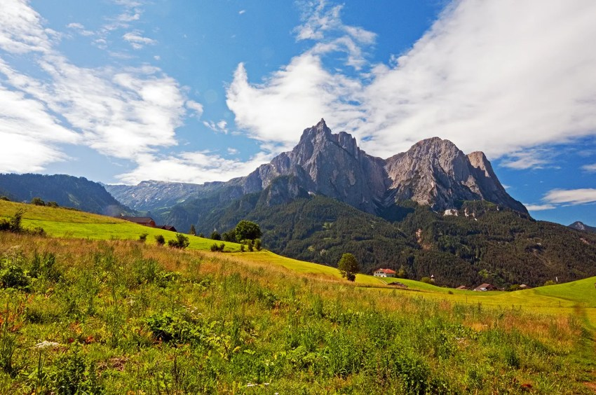 Dolomites of the Alpe di Siusi area, near the towns of Siusi and Castelrotto, northern Italy