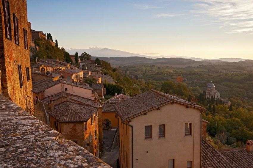 The Tuscan Hills from the hill town of Montepulciano, Italy