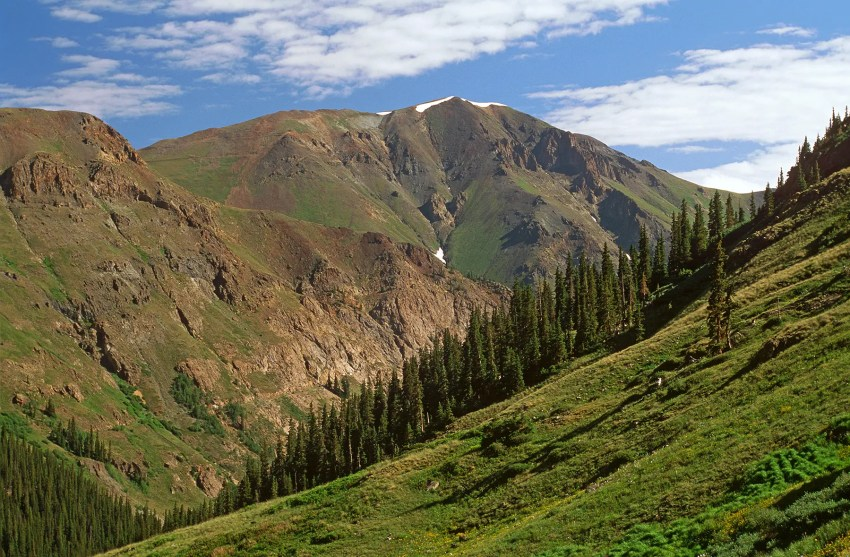 Mountains surrounding American Basin, near Lake City, Colorado, USA