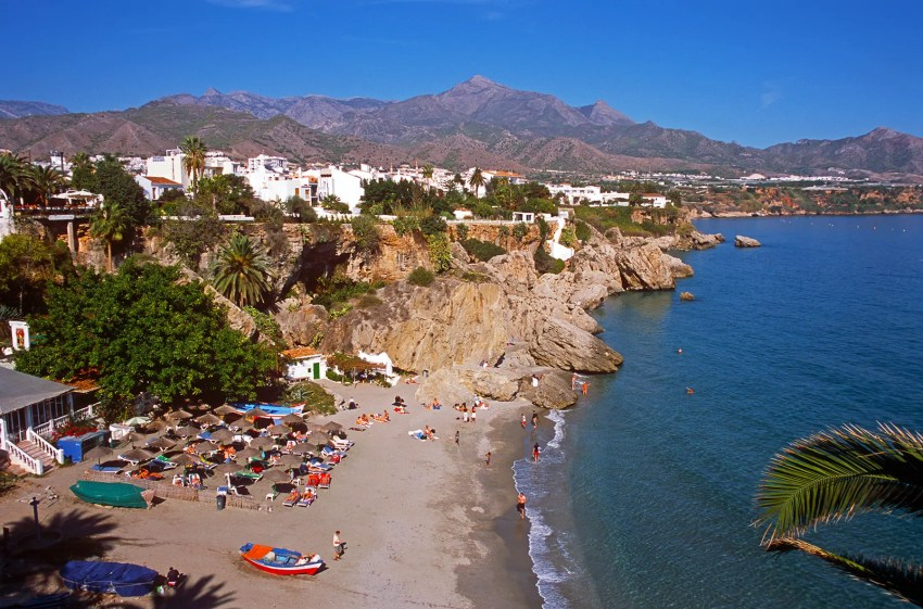 Beach at Nerja, Andalucia, Spain, Afternoon