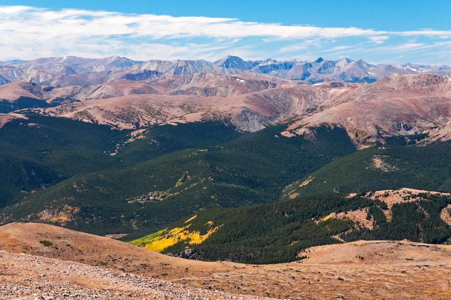 Views from the trail up Mt Bierstadt, Colorado