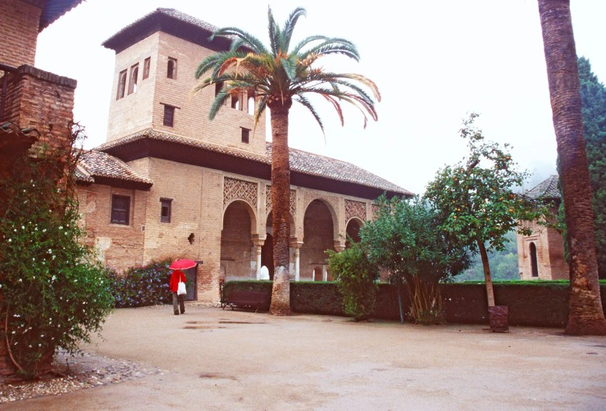Alhambra building and gardens, Granada, Andalucia, Spain