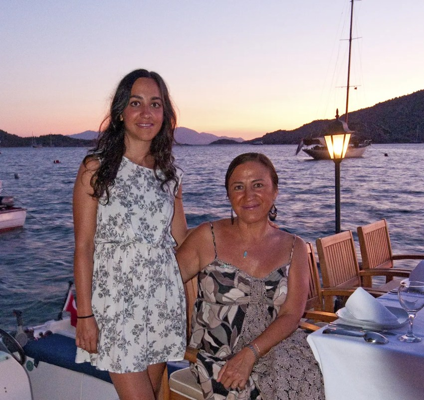 My new friend, Belize, the owner of Karia Bel' Hotel in Bozburun, Turkey with her daughter