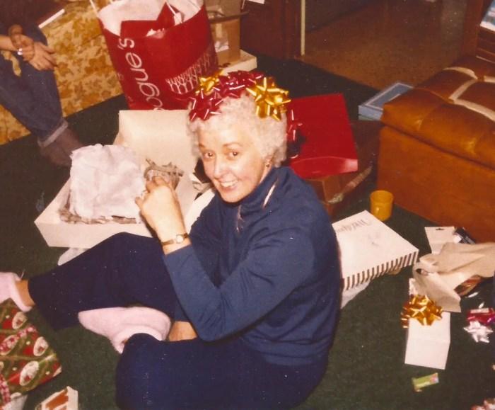Mom at Christmas