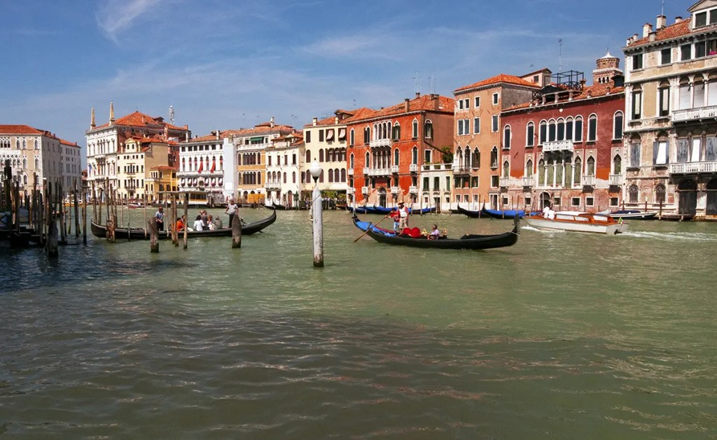 The Grand Canal and buildings, Venice, Italy