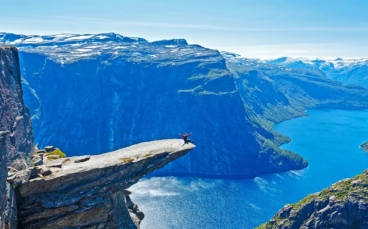 Trolltunga in the fjord