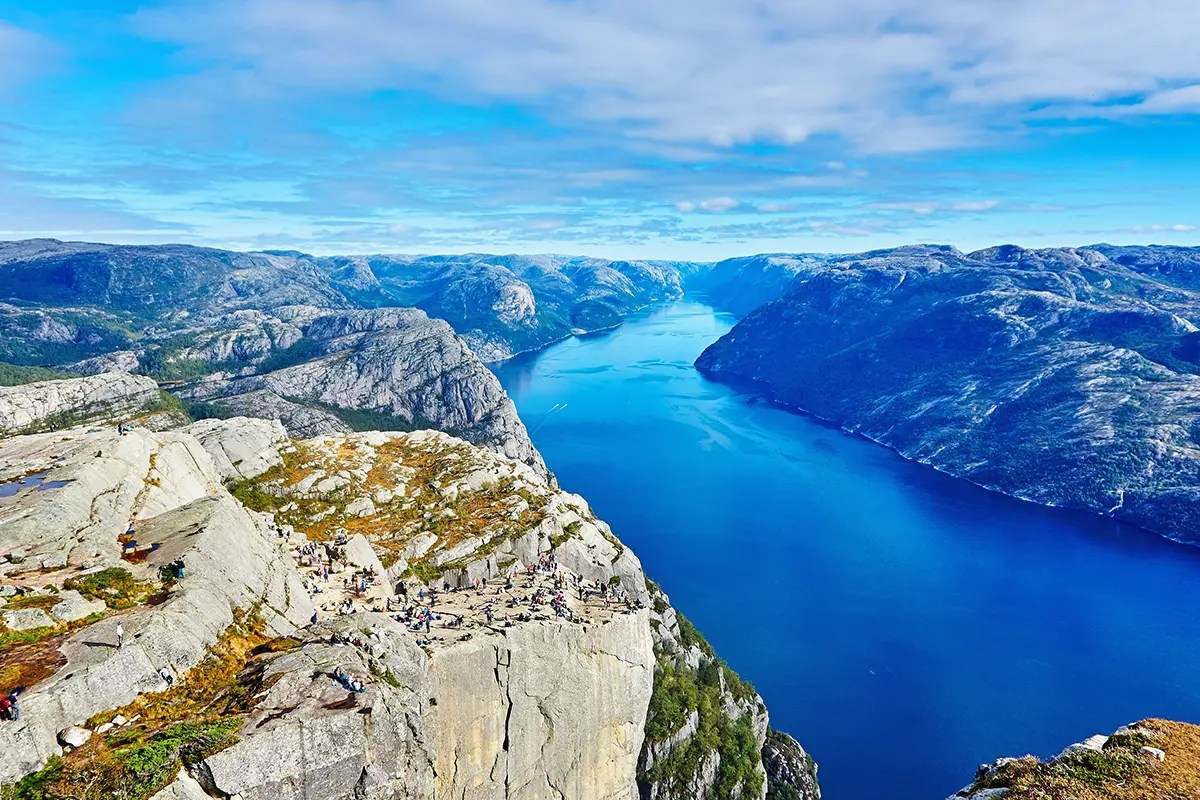 fjord and Pulpit Rock