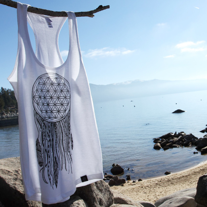 flower of life dreamcatcher racerback tank - Wandr Co.