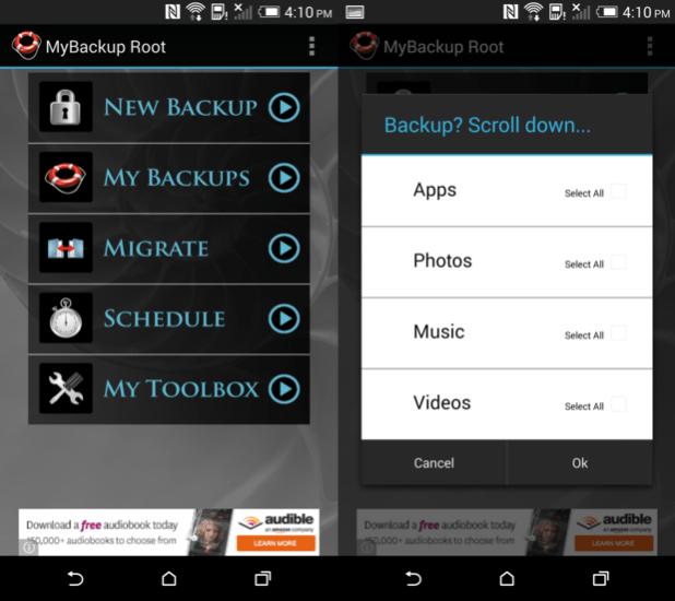 MyBackup Root