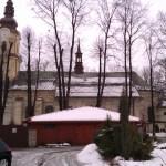 Śnieg na dachu kościoła pw. św. Macieja w Andrychowie