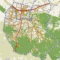 Mapa gminy Andrychów