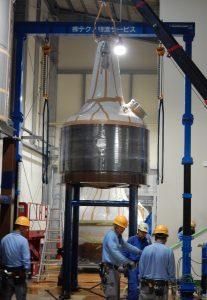 ウイスキー蒸溜釜の据付作業