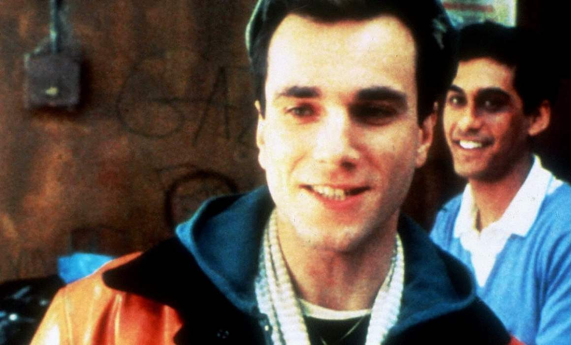 Image from My Beautiful Launderette showing the two main characters