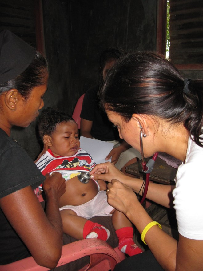 Dr Rosena Allin-Khan, a Labour councillor who will speak in the refugees debate,  treating children in East Timor