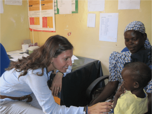 Dr Rosena Allin-Khan, a Wandsworth Labour councillor, has worked with refugees around the world. Pictured here a treating children in a village on the border of Kenya and Uganda