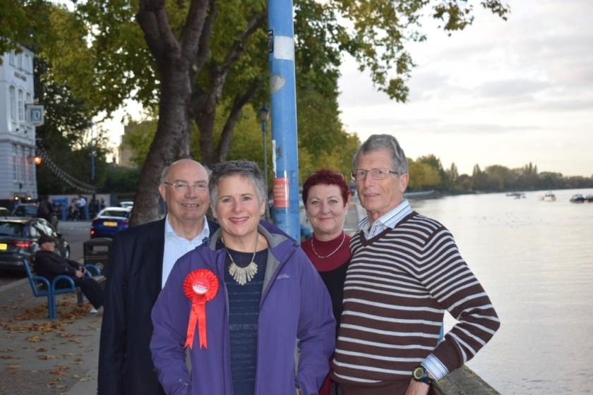 cllr Peter Carpenter, Sally Warren, Cllr Sue Mckinney, Cllr Jeremy Ambache (l to r)