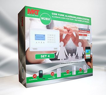 GSM Funk-Alarmanlage Set von Multi Kon Trade I Alarmanlage Komplettsystem M2BX SET-4 I Touch Alarmanlage mit Bewegungsmelder, Tür- und Fensterkontakt, Fernbedienung, externe Sirene und App Steuerung - 5