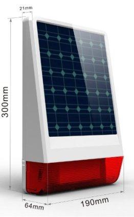 Multi Kon Trade: Funk Solar Power Sirene mit Bitzlicht * Innovativ * Einfach * Funk Solar- Aussensirene mit Blitzlicht für unsere Alarmanlagensysteme * 433 MHZ * - 1